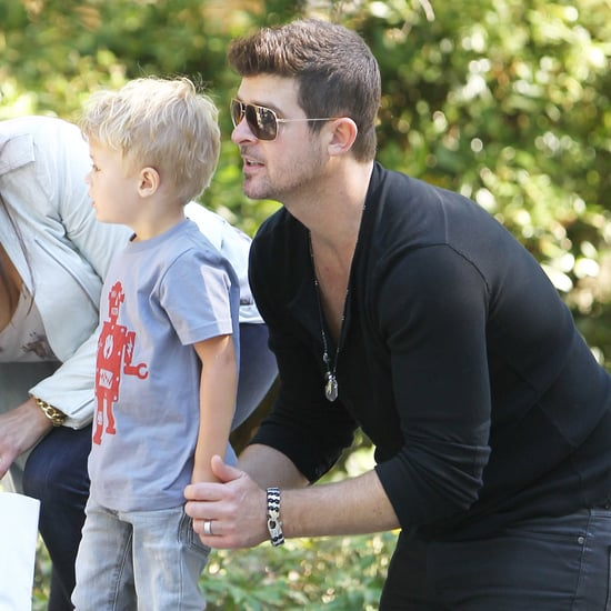 Robin Thicke, Paula Patton, and Son Julian in NYC | Photos