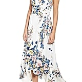Leith Floral Print Wrap Dress