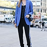 Color-coordinated and just a bit of a sporty side from Joanna Hillman.