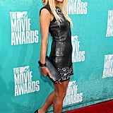 Paris Hilton posed at the 2012 MTV Movie Awards.