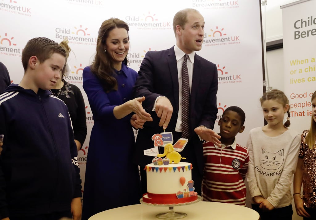Kate Helped Will With His Cake-Cutting Skills