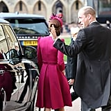 Prince William and Kate Middleton PDA at Eugenie's Wedding