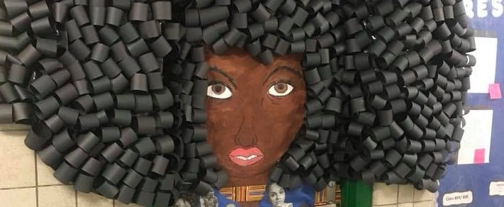 1 NYC Teacher Created the Most Beautiful Hair Mural to Celebrate Black History Month