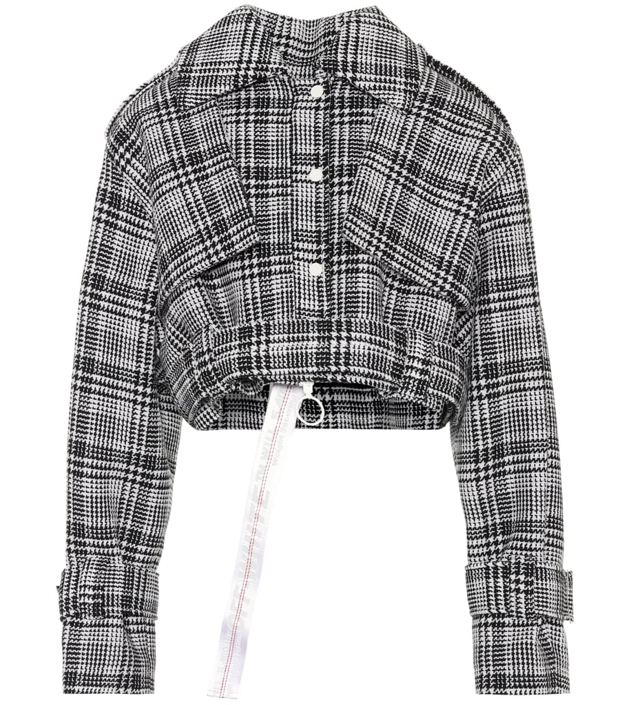 Off-White Plaid Jacket