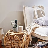 Concentric Rattan Stool