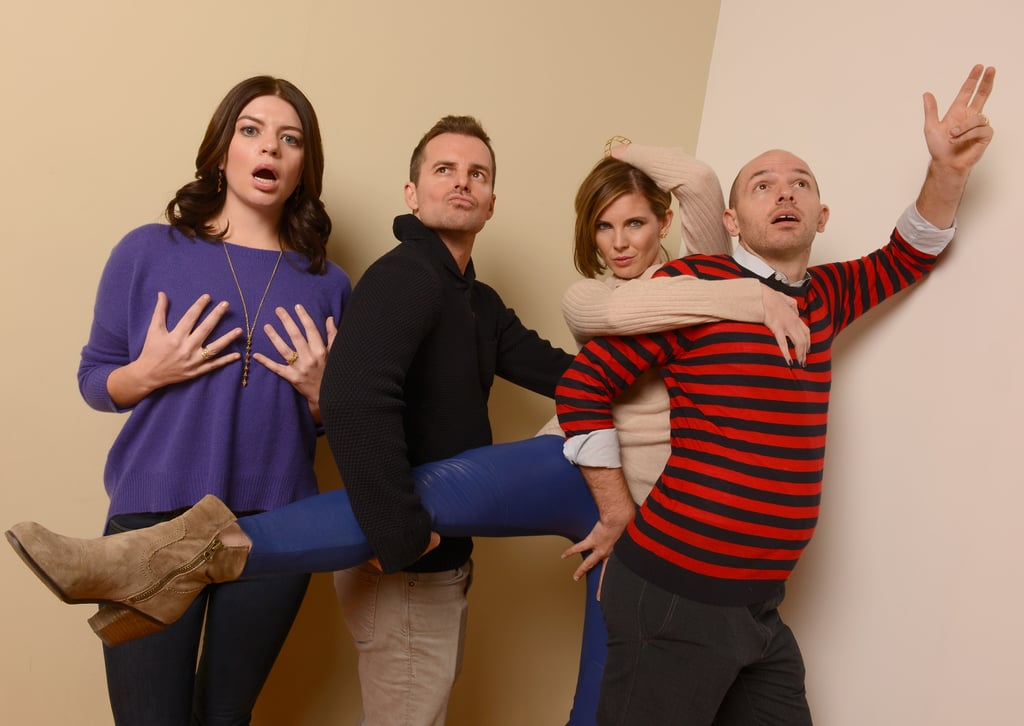 Casey Wilson, director Chris Nelson, June Diane Raphael and Paul Scheer let loose in their photos for Ass Backwards.