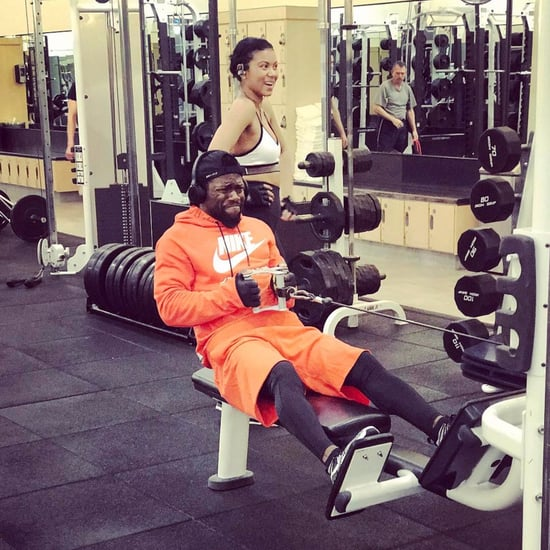 Kevin Hart Working Out With His Wife