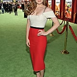 Amy Adams posed for photos on the green carpet.