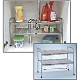 Atb Two-Tier Expandable Adjustable Under Sink Shelf Storage Shelves