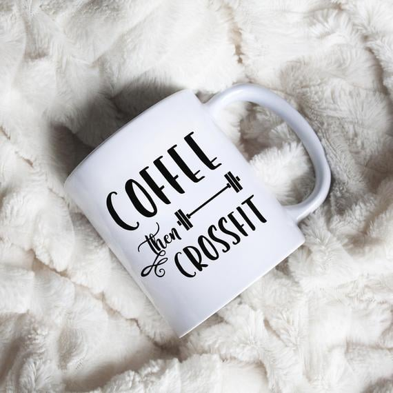 coffee and CrossFit mug