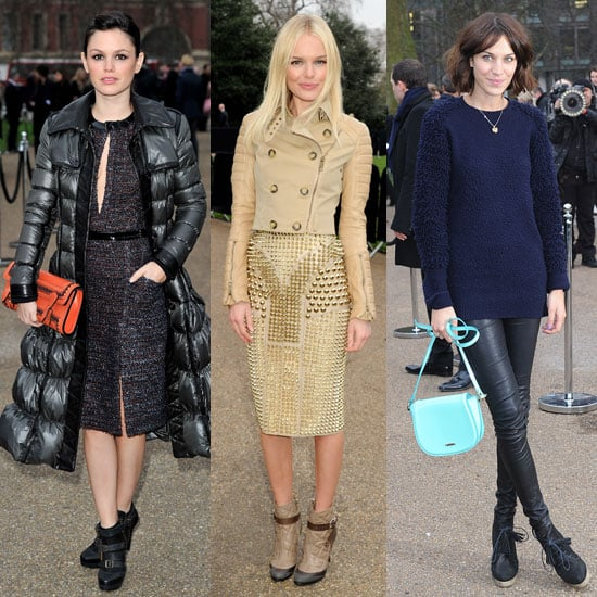 Pictures of Burberry Front Row at London Fashion Week Including Rachel Bilson, Kate Bosworth, Alexa Chung