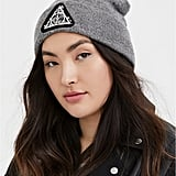 Harry Potter Deathly Hallows Grey Embroidered Beanie