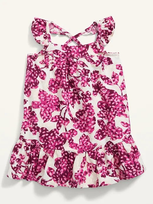 Old Navy Ruffle-Trim Floral Swing Dress