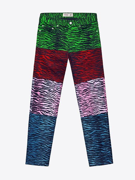 Tiger-Striped Jeans ($99)