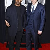 Ryan Reynolds and Denzel Washington at the premiere of Safe House.