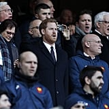 Prince Harry at Six Nations Rugby Match February 2019