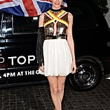 Poppy Delevingne worked her stuff at the event.