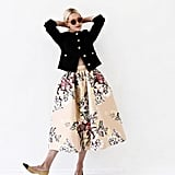 Smart Pumps and a Button-Front Blazer Make Your Floral Midi Office-Ready