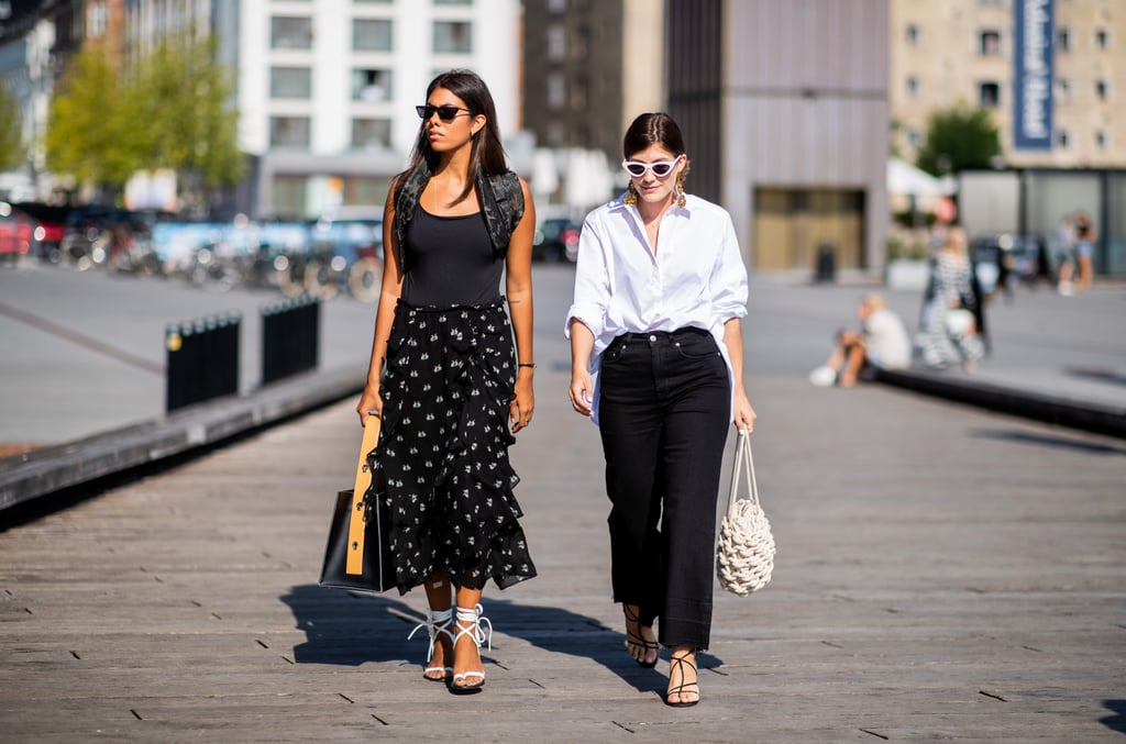 Style a pair with a crisp button-down and black jeans or opt for a girlier option with a tank top and polka-dot skirt.