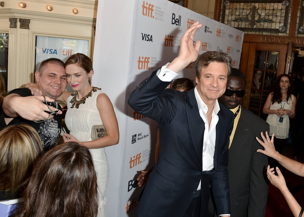 Colin Firth and Emily Blunt greeted fans.