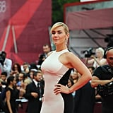Kate Winslet on the red carpet for Mildred Pierce.
