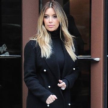 Kim Kardashian Black Turtleneck Outfit