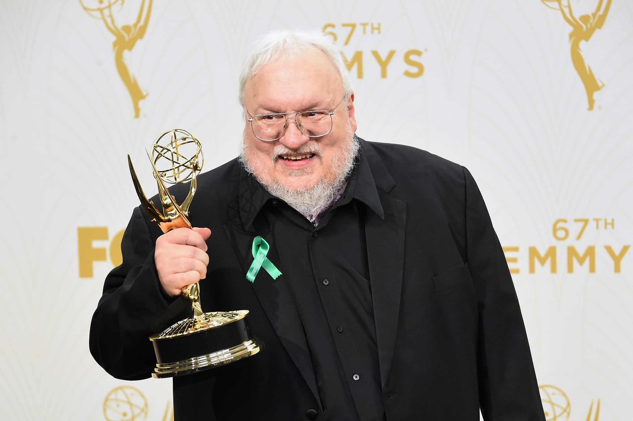 LOS ANGELES, CA - SEPTEMBER 20:  Writer George R. R. Martin, winner of Outstanding Drama Series for