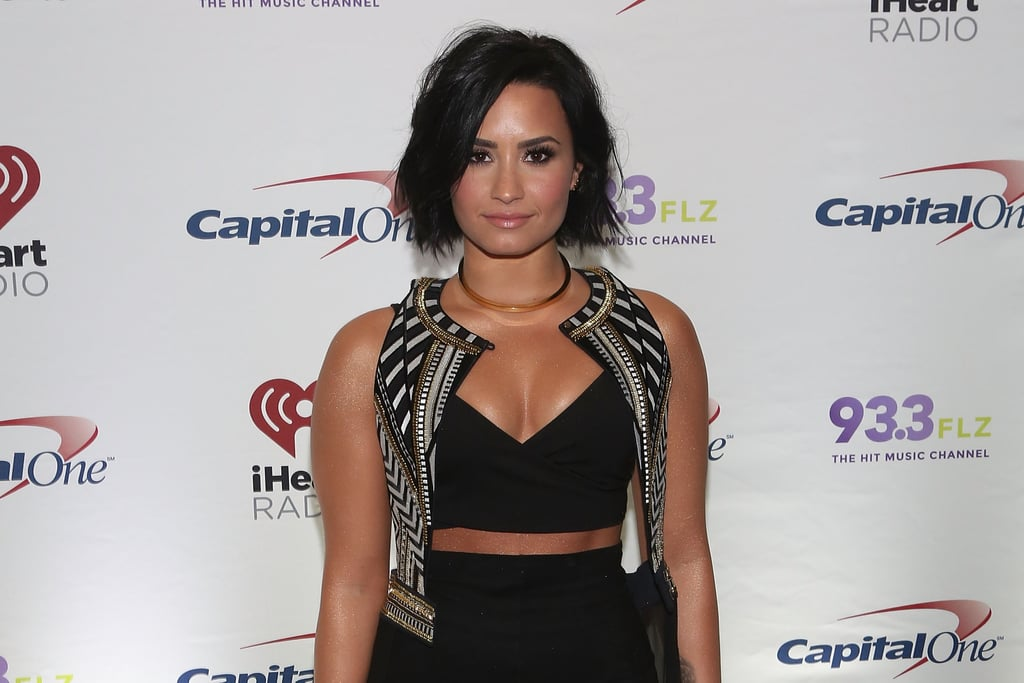 Demi Lovato NYC New York Color Lovatics Makeup | POPSUGAR Beauty