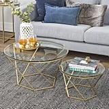 New Geometric Glass Nesting Coffee Tables