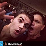 Wesley made some memories with The Vampire Diaries creator Kevin Williamson. Source: Instagram user paulvedere