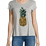 Just imagine this t-shirt with a pair of jeans or shorts in the Summer. It's perfection.  Design Lab Lord & Taylor Sequined Pineapple Tee ($32, originally $58)