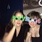Girls costars Jemima Kirke and Lena Dunham rang in the new year together. Source: Instagram user lenadunham