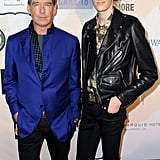 Pierce Brosnan and his son, model Dylan Brosnan, attended the Rock Against Trafficking event after the Grammys.
