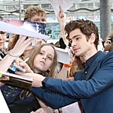 Emma Stone and Andrew Garfield Couple Up to Meet Fans in Moscow