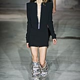 The boots as they made their debut on the runway.