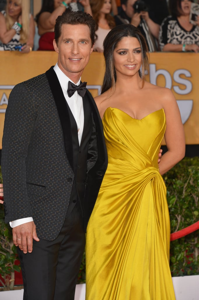 Matthew McConaughey hit the SAG Awards red carpet with his wife, Camila Alves.