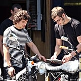 Orlando and Eric Shop for Bikes