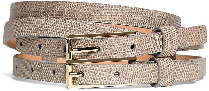8e48cef189dd0 Brooks Brothers Lizard Embossed Calfskin Double Belt ( 198 ...