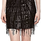 Haute Hippie Faux-Leather Cutout Fringe Dress ($995)