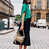 How to Style Gucci Loafers With a Skirt