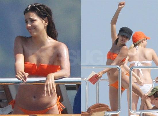 Eva Longoria Bikini Photos in Portofino with Tony Parker