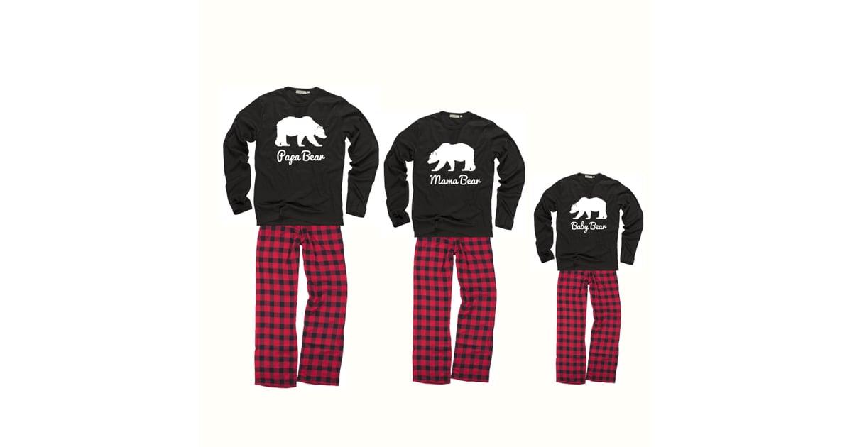 Papa Bear Mama Bear Baby Bear Matching Family Pajamas