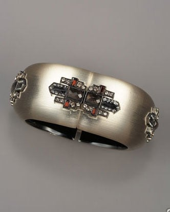 Alexis Bittar Jeweled Deco Bangle ($545)