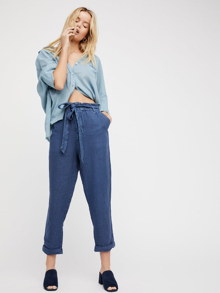 If you miss your jeans, these Free People lightweight linen bottoms ($98) have a denim-like look.