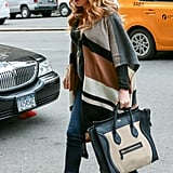 Blake Lively stepped out in New York City alongside Ryan Reynolds looking totally chic in her neutrals — from her Céline tote to her cozy sweaters. And check out those heels!