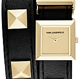 Karl Lagerfeld 'Demi' Stud Double Strap Watch ($250)