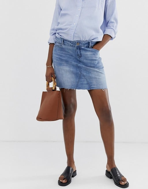 Bandia Maternity denim mini skirt with removeable band | ASOS