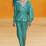 Puffy Sleeves on the Sally LaPointe Runway at New York Fashion Week