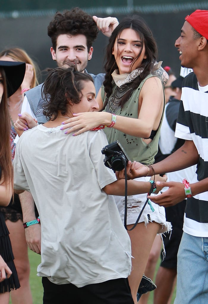 Kendall Jenner flashed her smile while dancing.