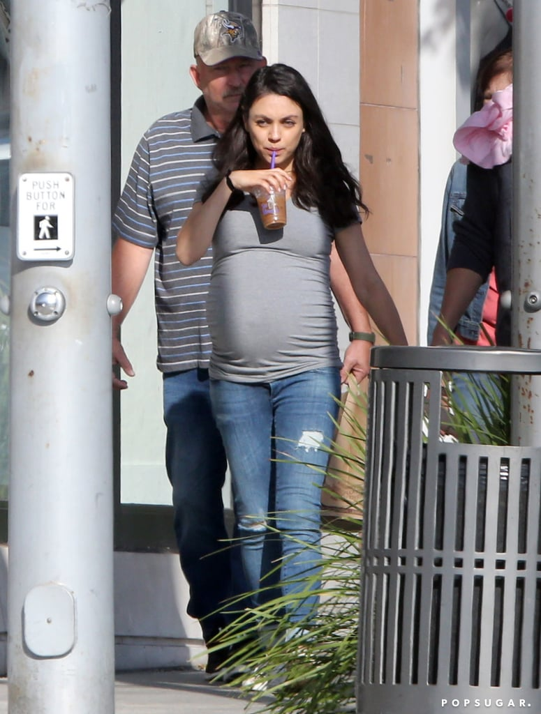 Mila Kunis and Ashton Kutcher Have a Sunny Breakfast Outing With Their Family